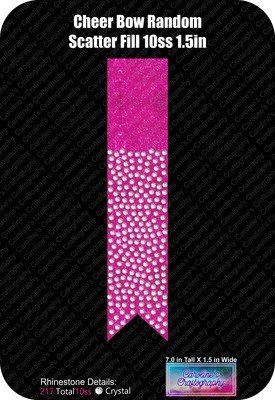 Cheer Bow Random Fill Scatter 10ss 1.5in Rhinestone