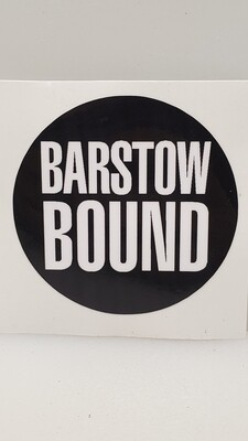 Barstow Bound Black Decal