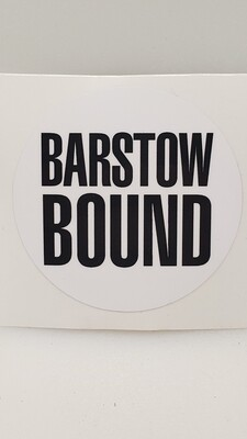 Barstow Bound White Decal