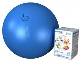 Мяч медицинский для реабилитации Фитбол Стандарт 550 мм ПВХ голубой 402562