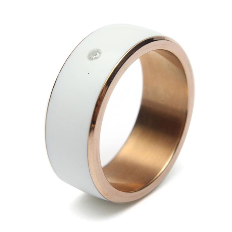 NFC Ring, Bague connectée Blanc - Taille 8