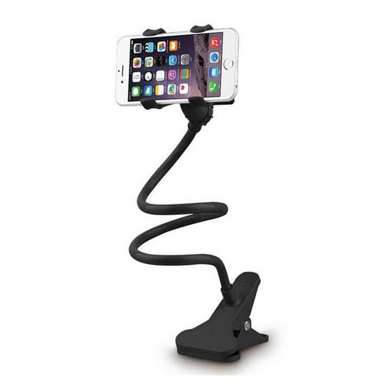 Support smartphone universel avec long bras flexible - Noir