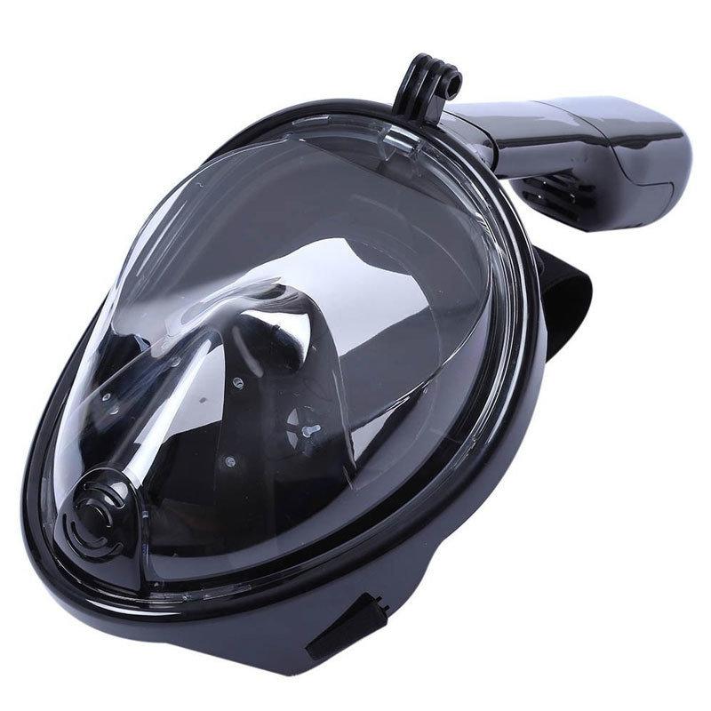 Masque de Snorkeling avec support camera - Noir-S/M