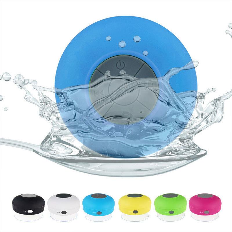 Mini haut-parleur Bluetooth étanche et rechargeable avec ventouse - bleu