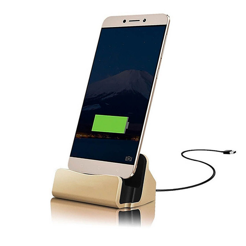 Station d'accueil et chargeur pour smartphone Android - USB type-B - Gold