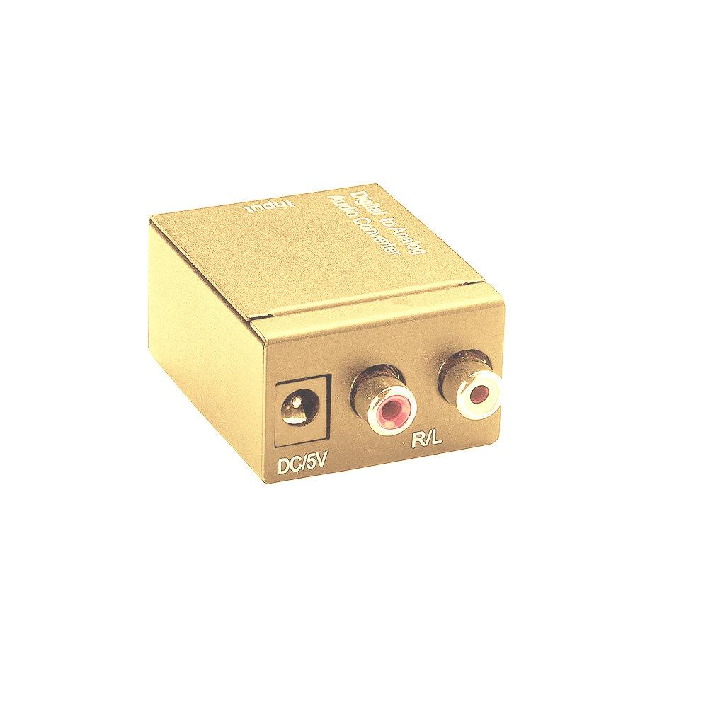 Convertisseur audio numérique optique vers analogique RCA - Gold