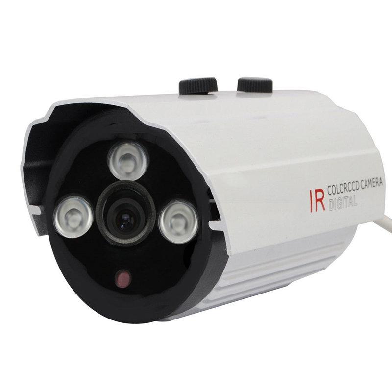 Caméra CCD vidéo 700TVL avec 3 LEDS IR Couleur