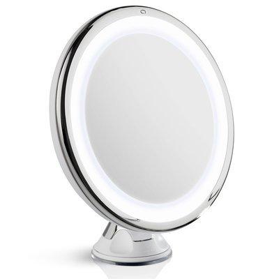 Miroir LED Zoom 7x avec base d'aspiration pour le maquillage et rasage