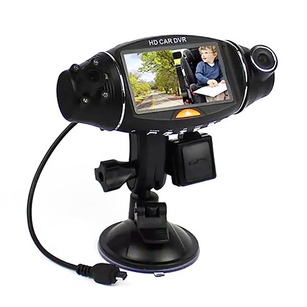 Dashcam double caméra avec infrarouge, GPS Logger & G-Sensor
