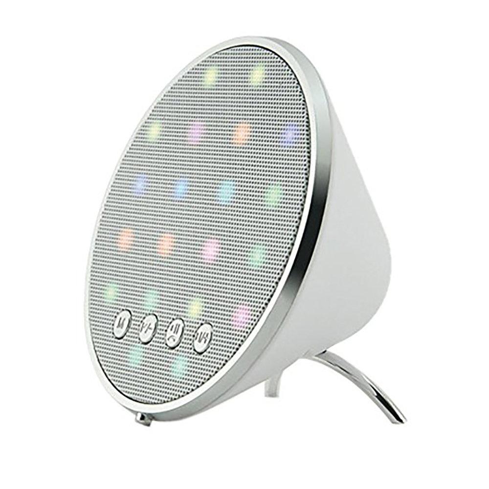 Haut-parleur Bluetooth avec radio décoré avec des lampes LED