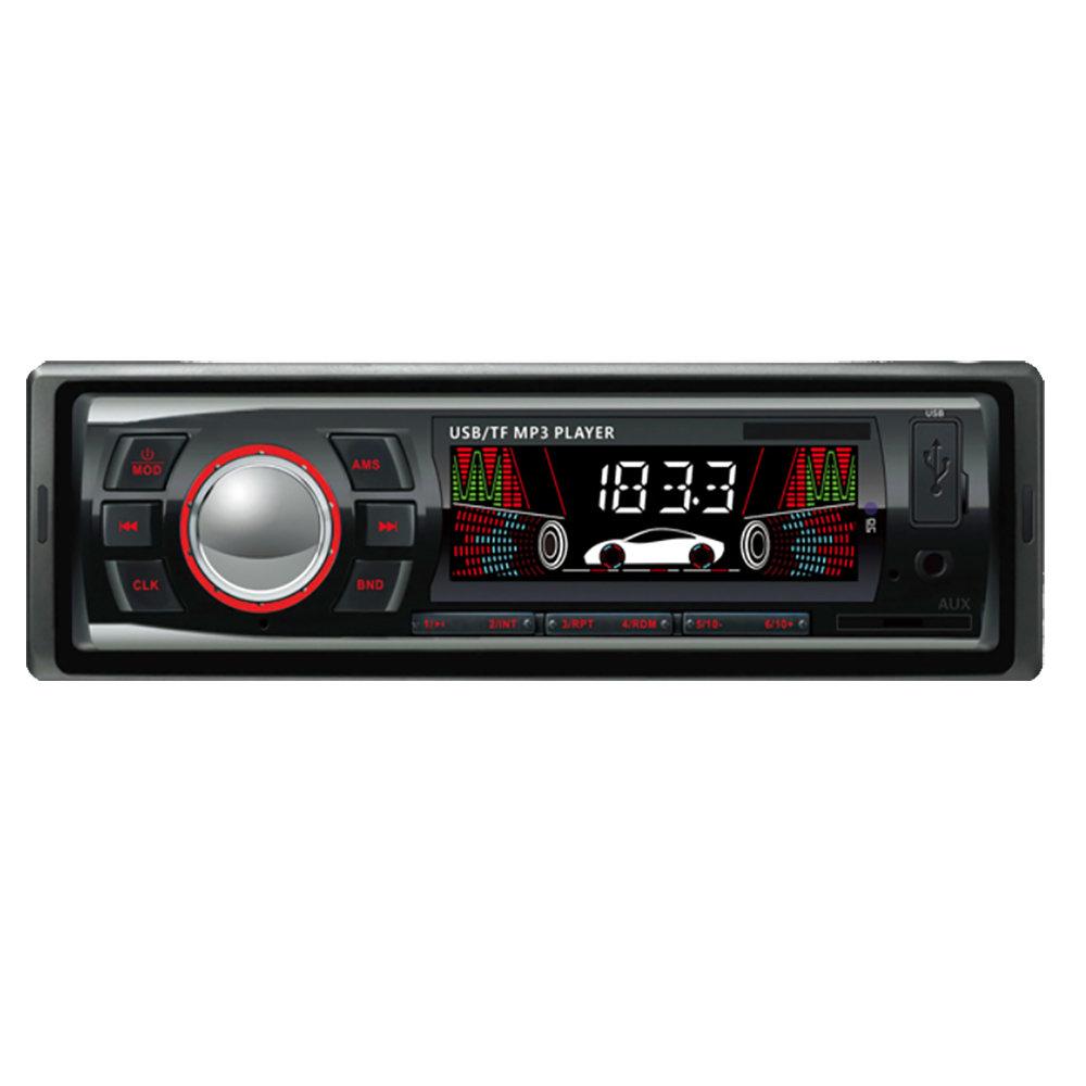 Poste radio pour voiture a affichage LCD avec lecteur MP3 via carte mémoire & USB