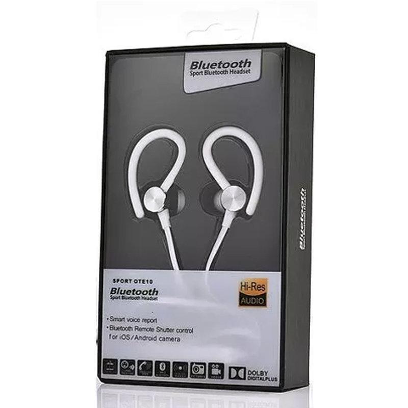 Oreillette Bluetooth avec rapport vocal intelligent - Sport OTE10 - Blanc