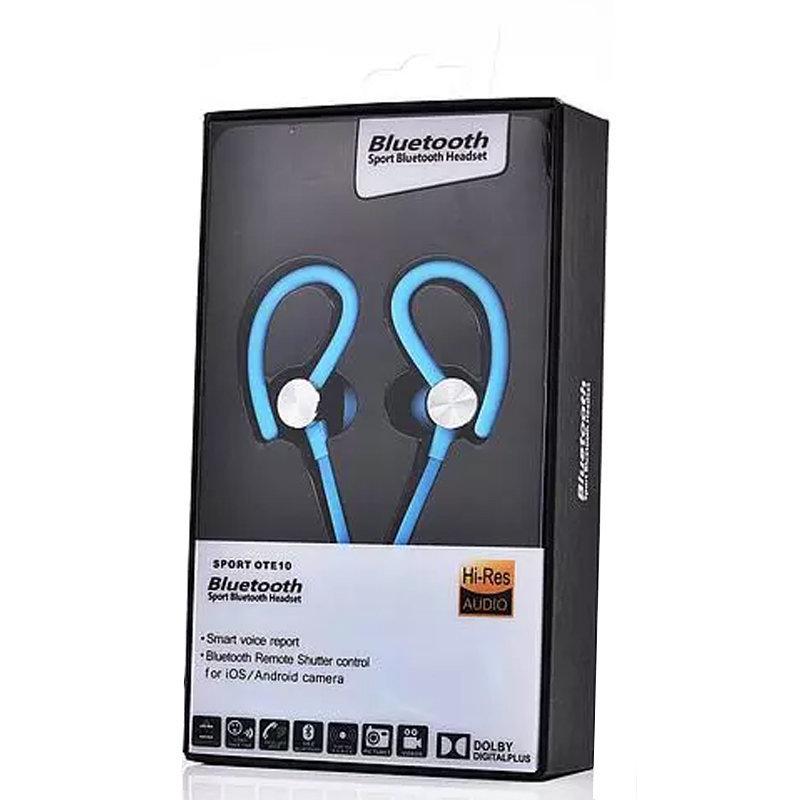 Oreillette Bluetooth avec rapport vocal intelligent - Sport OTE10 - Bleu