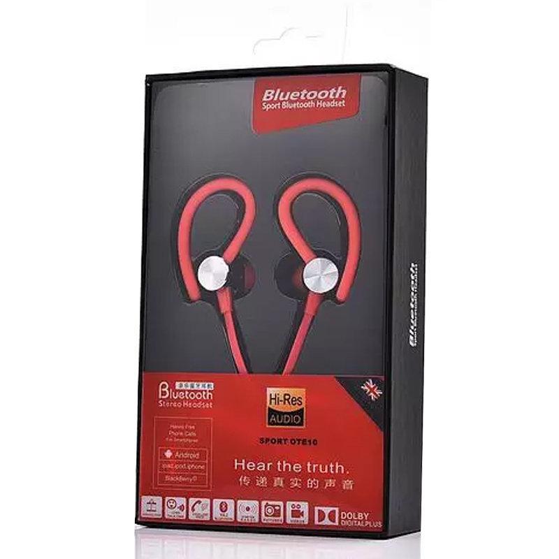 Oreillette Bluetooth avec rapport vocal intelligent - Sport OTE10 - Rouge