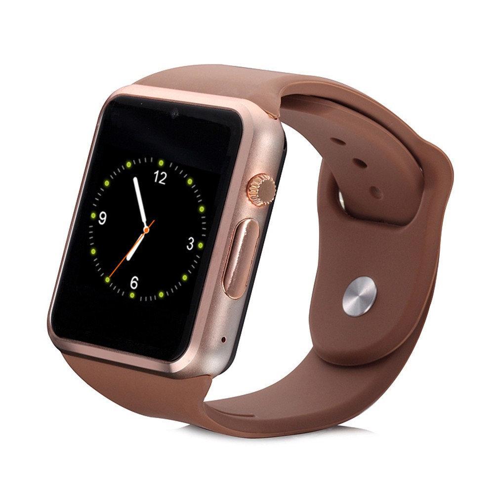 Montre connectée intelligente Bluetooth  et téléphone, Smartwatch A1s - Gold