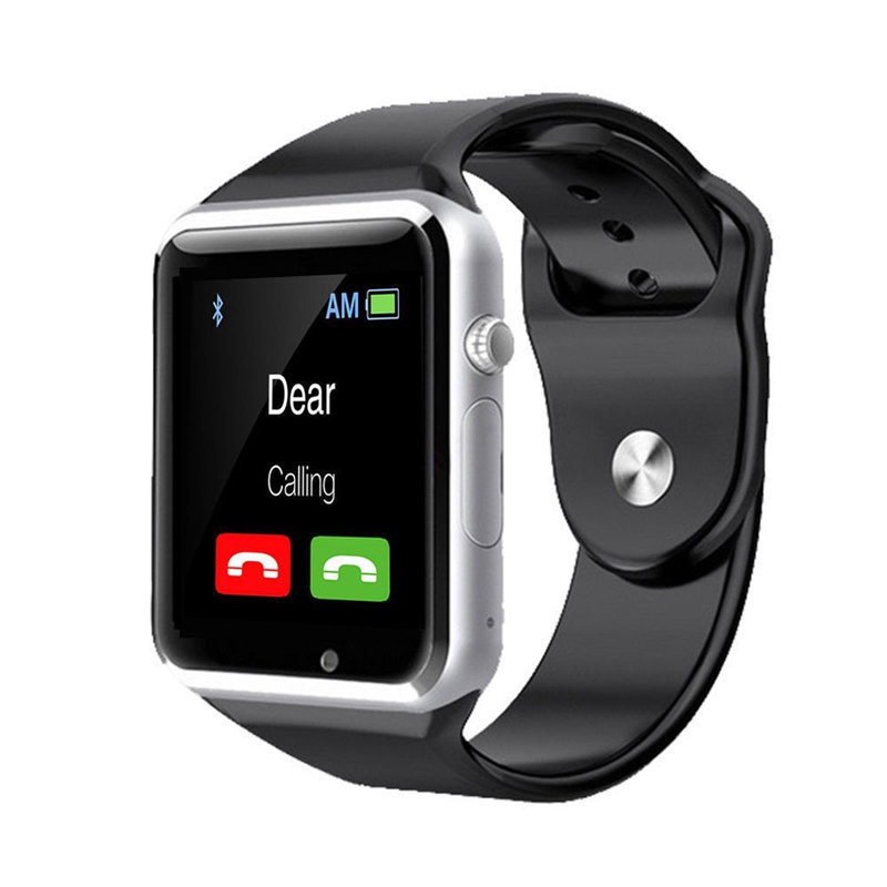 Montre connectée intelligente Bluetooth  et téléphone, Smartwatch A1s - Silver