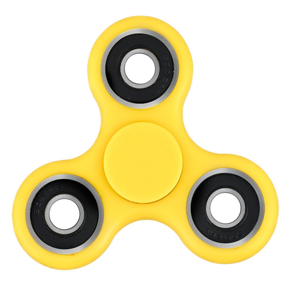 Fidget Spinner - le jouet original de soulagement du stress - Jaune