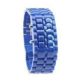 Montre braclet LED Femme + 1 gratuite - Bleu