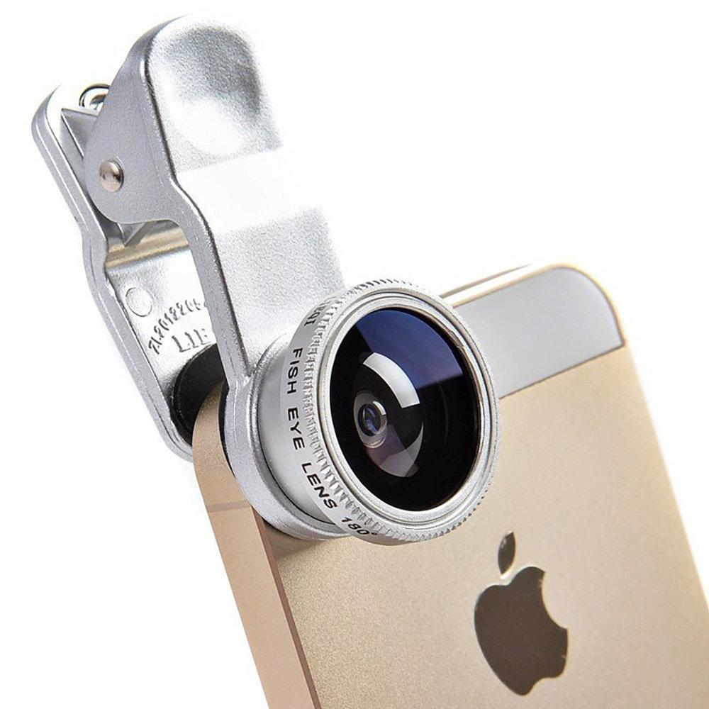 Kit de Lentille de caméra universel pour smartphone 3 en 1 - Gris