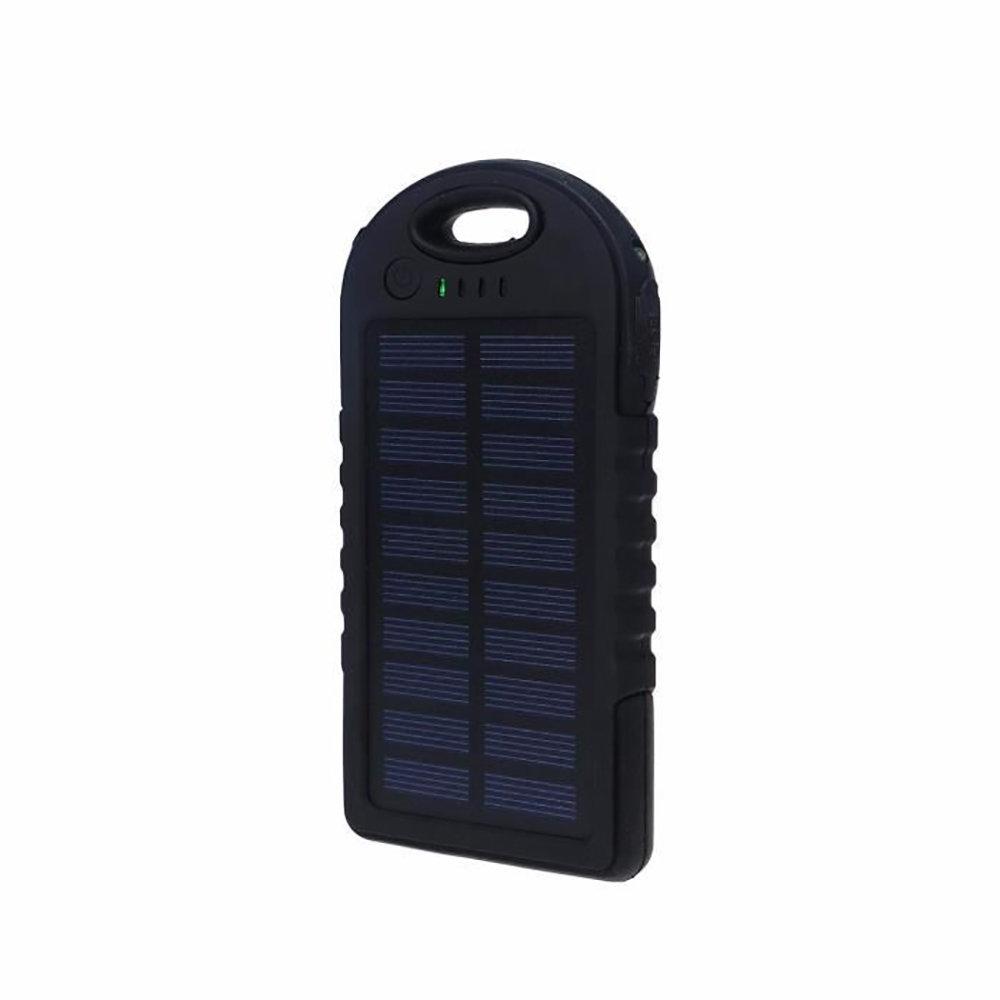 Chargeur solaire & Powerbank 5000mAh étanche ES500 - Noir