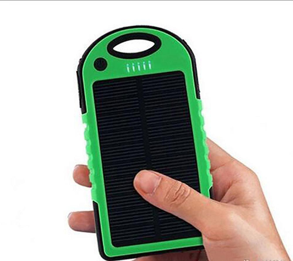 Chargeur solaire & Powerbank 5000mAh étanche ES500 - Vert