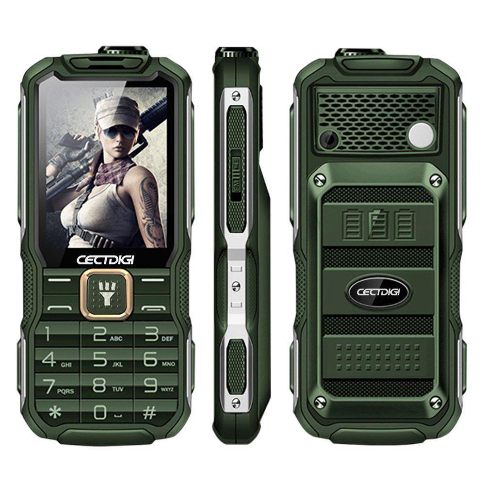 Telephone robuste avec fonction powerbank 3800mAh - Vert Militaire