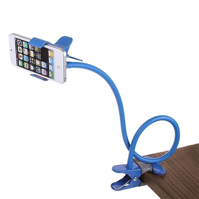 Support smartphone universel avec long bras flexible - Bleu