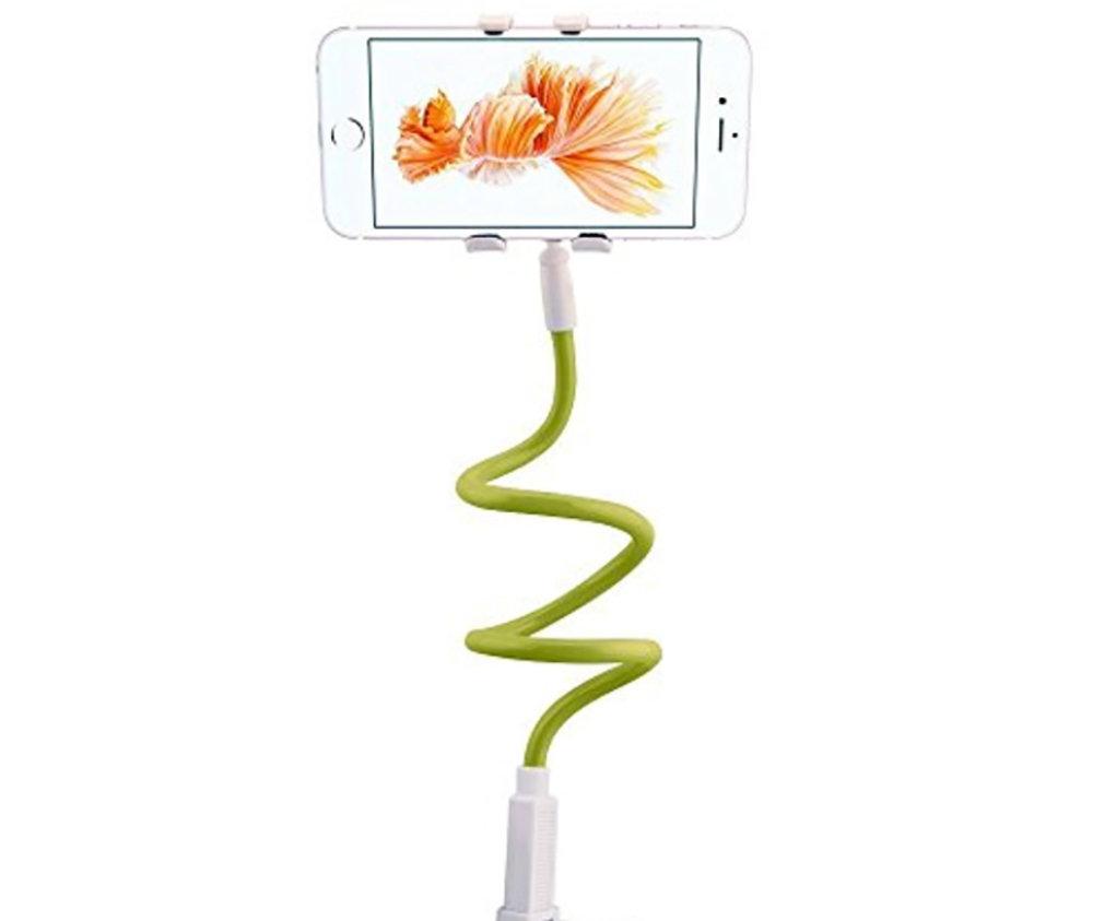 Support smartphone universel avec long bras flexible - Vert