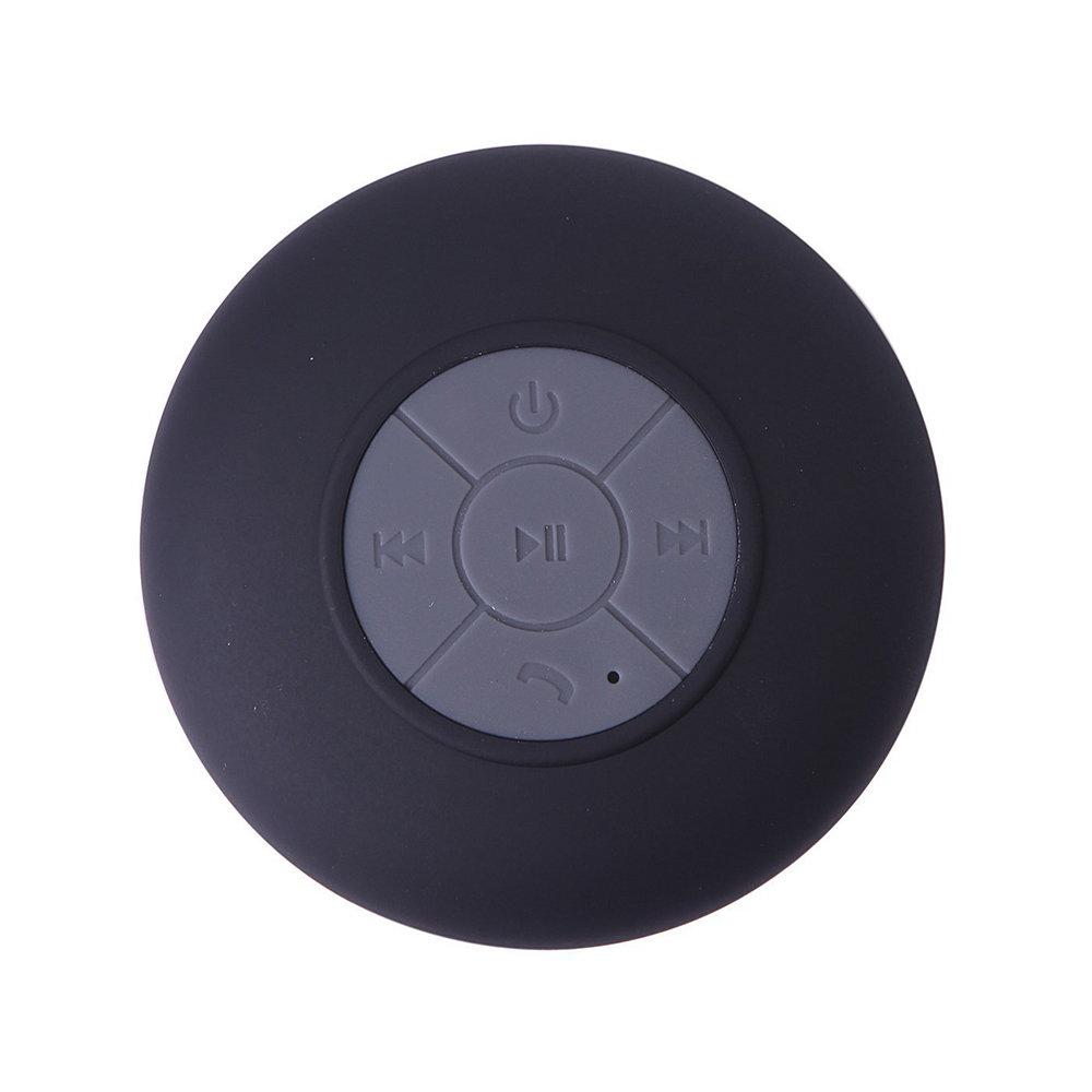 Mini haut-parleur Bluetooth étanche et rechargeable avec ventouse - Noir