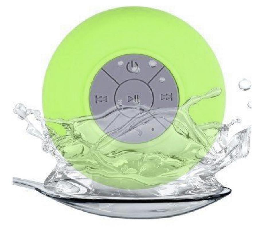 Mini haut-parleur Bluetooth étanche et rechargeable avec ventouse - Vert