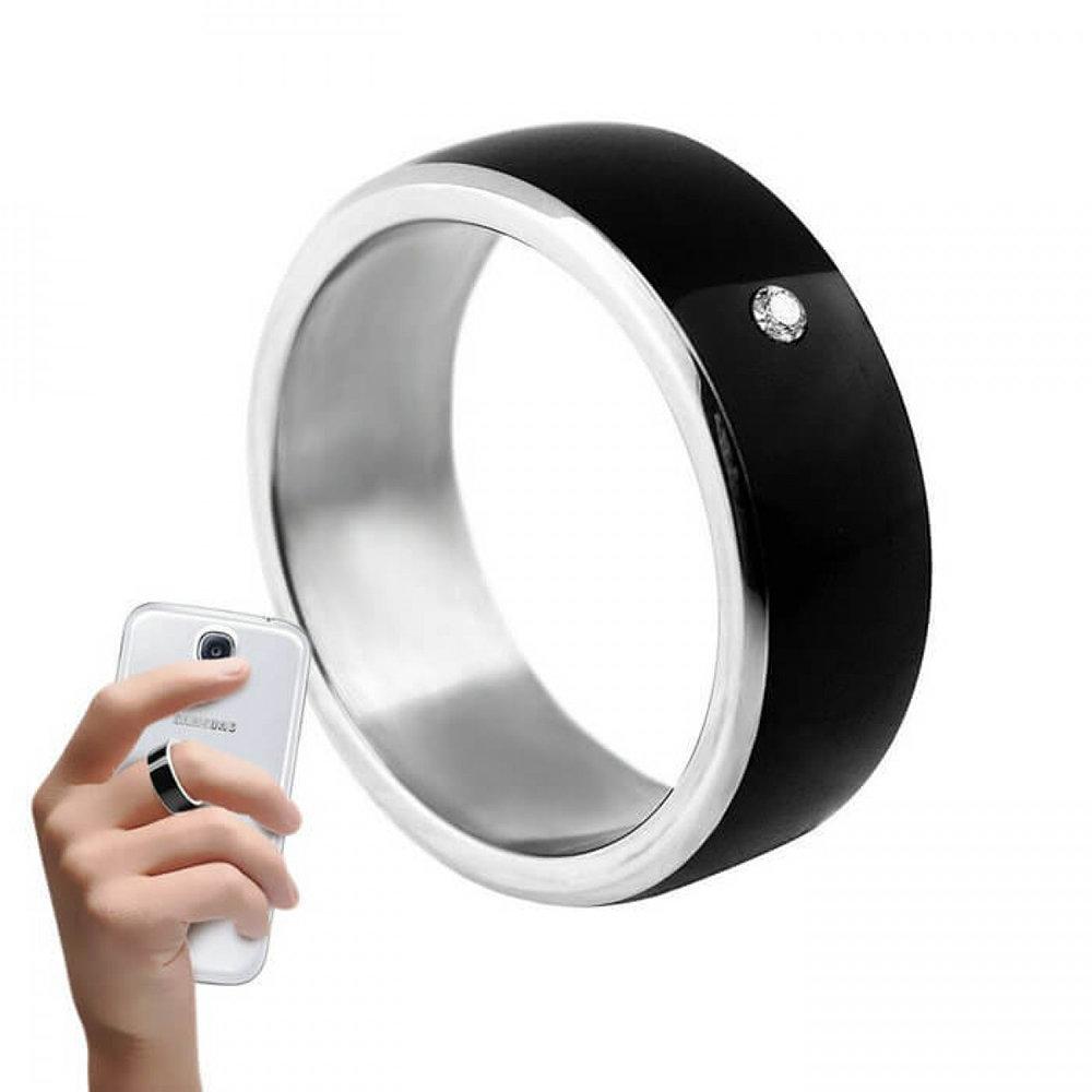 NFC Ring, Bague connectée Noir- Taille 8