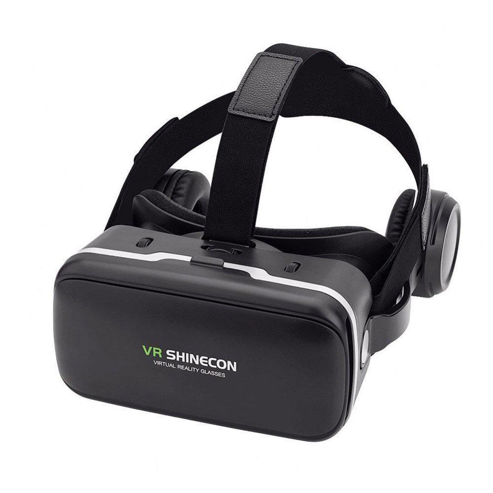 Casque VR avec écouteurs 3D stéréo compatible avec Google CardBoard - VR Shinecon G4E