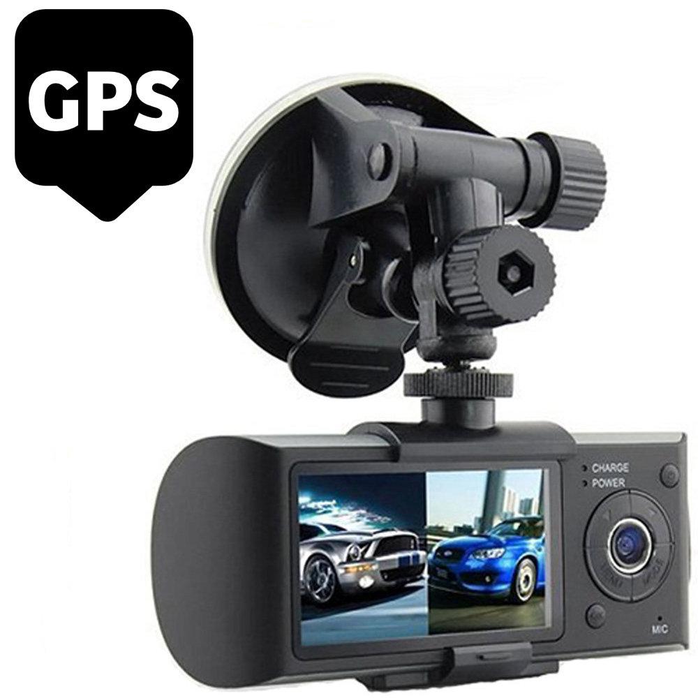 Dashcam double camera embarqué R300 avec GPS et détecteur de gravité