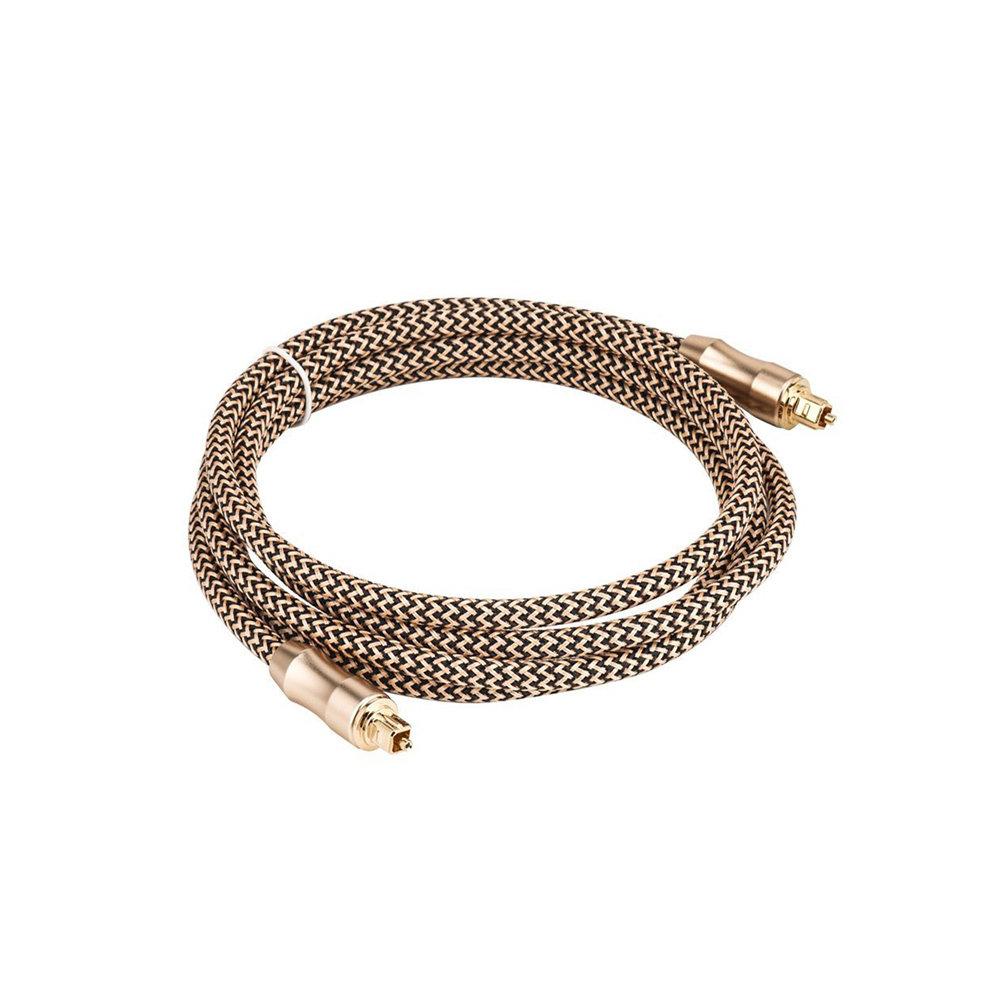 Câble Numérique Optique Toslink Tressé - 1  Mètres