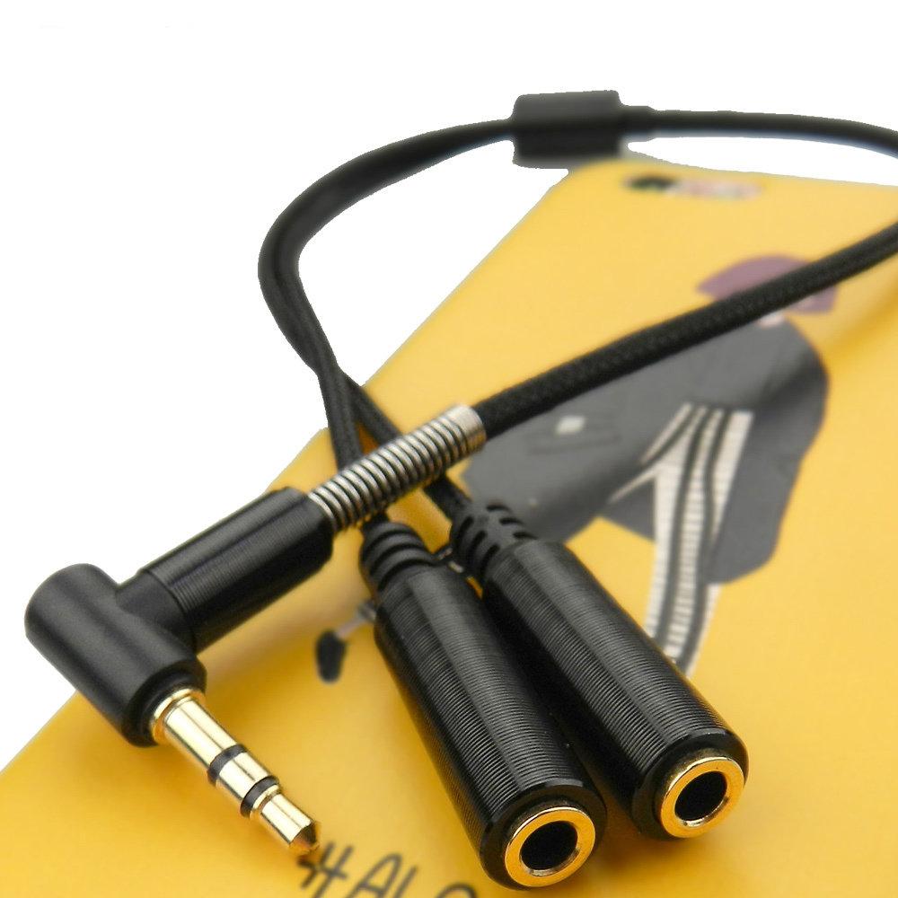 Câble AUX Splitter 3.5 mm - Noir