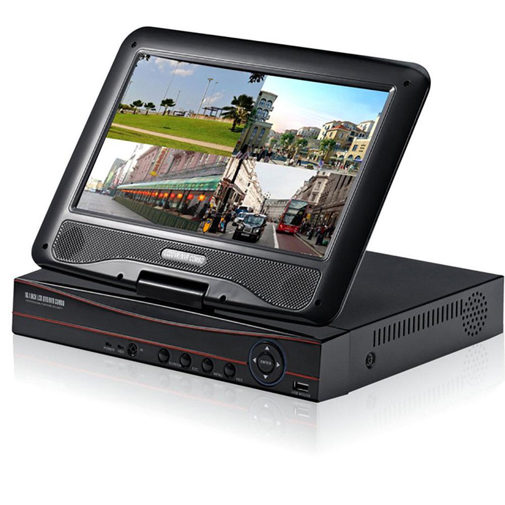 """XVR avec écran LCD 10.1"""" pour 8 caméras de sécurité"""