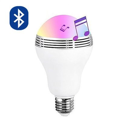Ampoule avec haut-Parleur Bluetooth et application sur smartphone