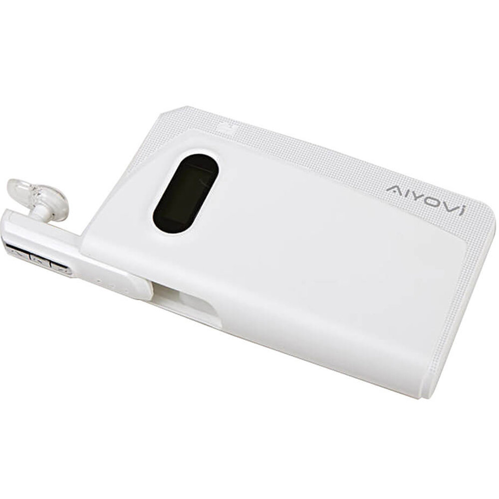 Power Bank BT-05 avec oreillette Bluetooth - Blanc