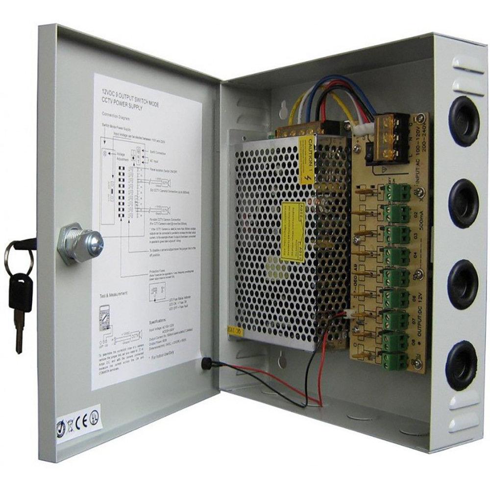 Bloc d'alimentation  12V/10A pour caméras CCTV