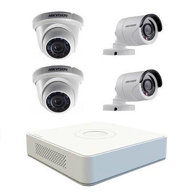 Kit video-surveillance 4 cameras HikVision clé-en-main