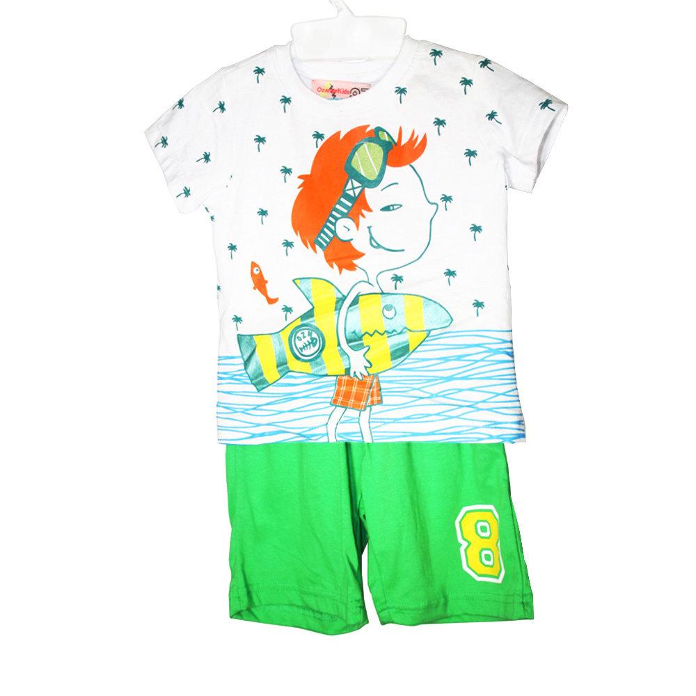 Pyjashort 'Pêcheur' pour garçon -Taille 2 ans