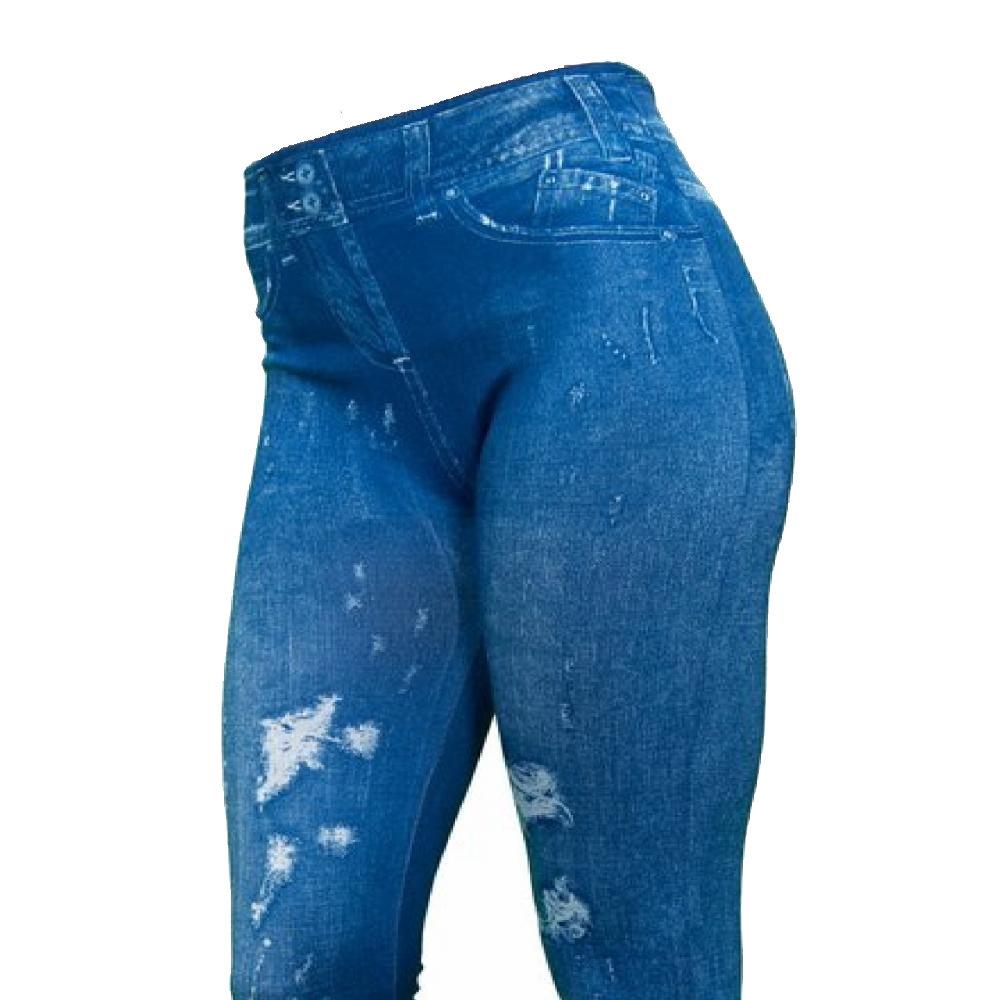Slim 'n Lift Caresse™ jeans Bleu déchiré