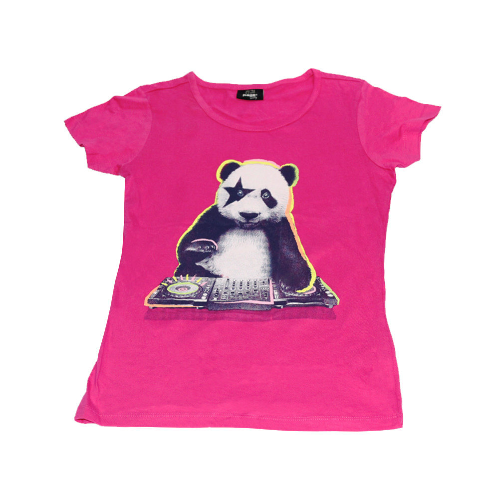 T-Shirt 'Panda' pour fille 'Page One Young'- Taille 10-12 ans