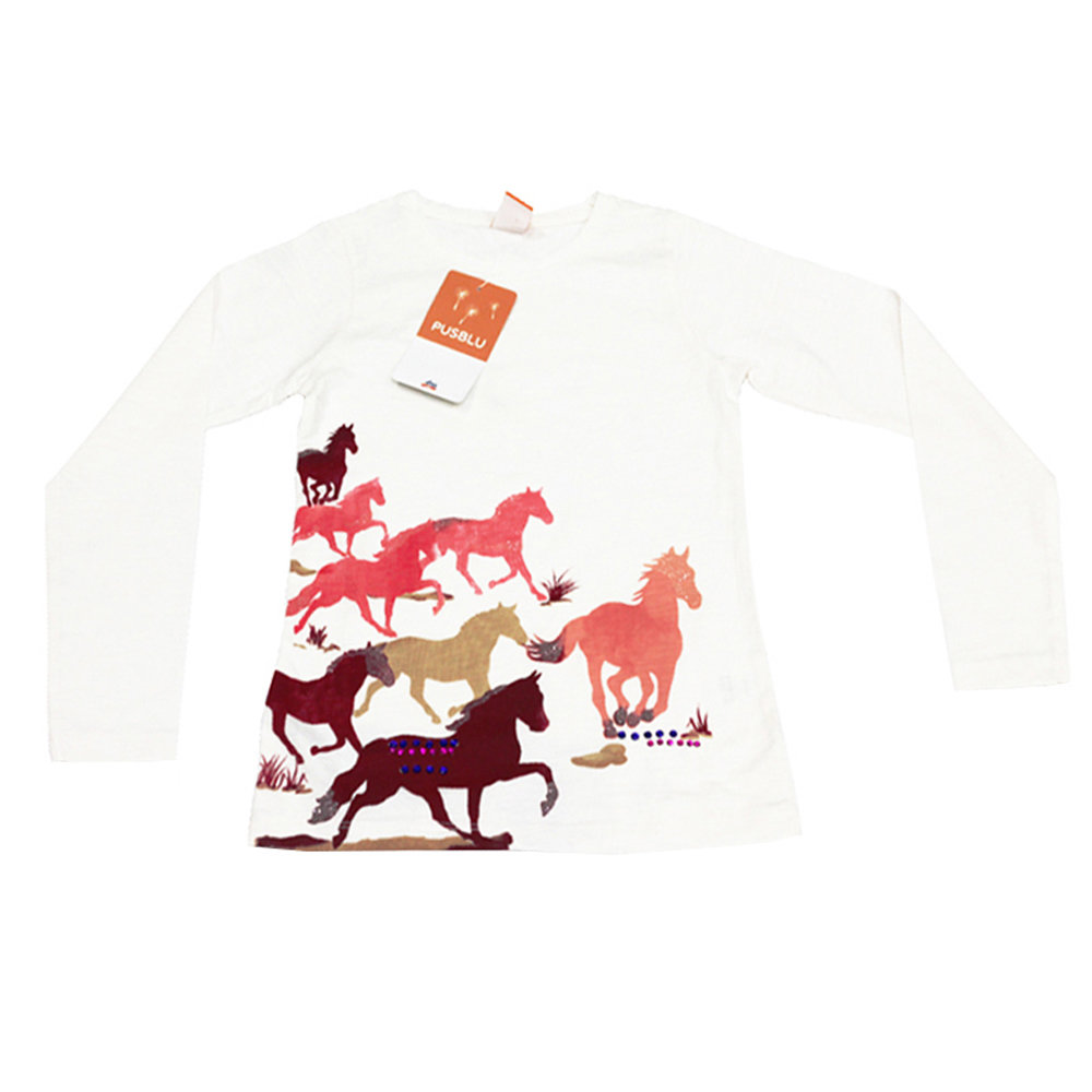 Pull 'Cheval' pour fille 'PUSBLU' - Taille 9-10 ans