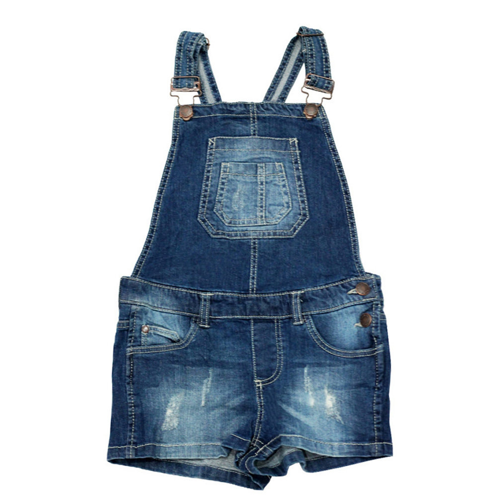 Salopette short Jeans 'Page One Young' pour fille - Taille 8-9 ans