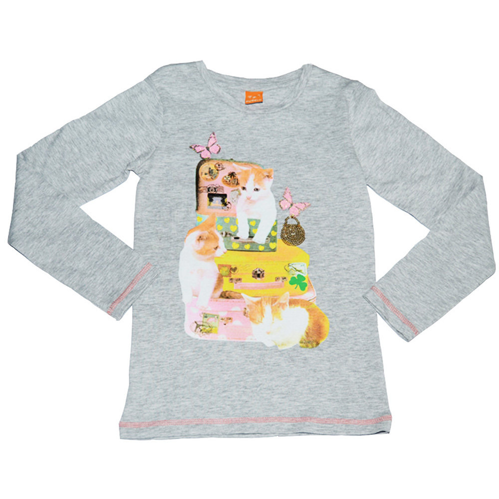 Pull 'Chat' pour fille 'PUSBLU' - Taille 7-8 ans