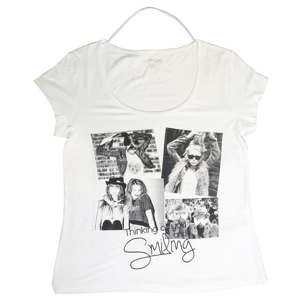 T-shirt 'Page One' pour femme- Taille L