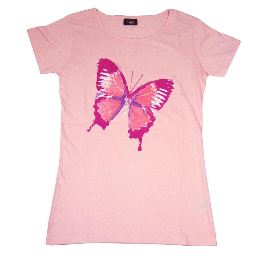 T-shirt 'Papillon' pour fille - Taille 13-14 ans