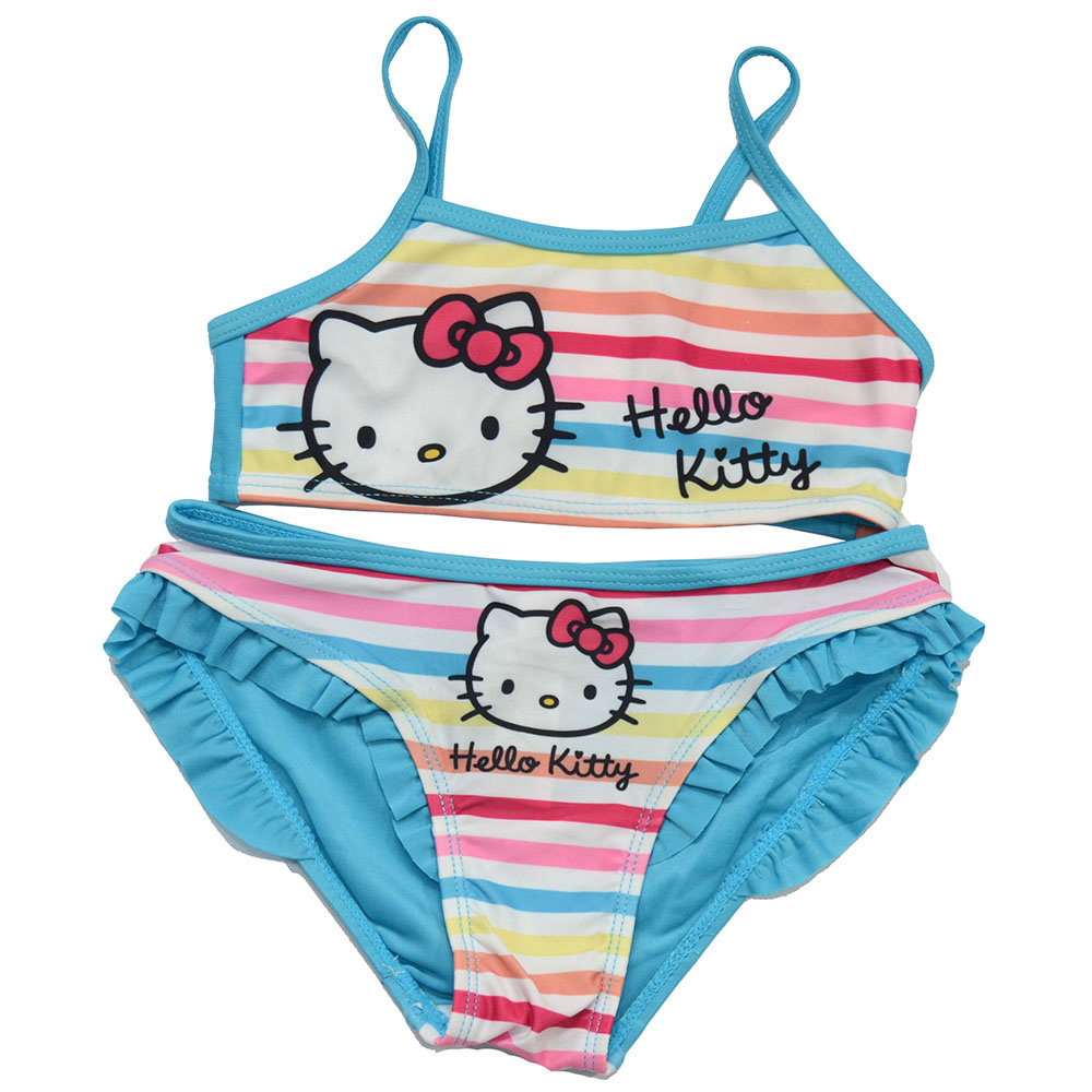 Maillot 2 pièces 'Hello Kitty' pour fille - Taille 5-6 ans