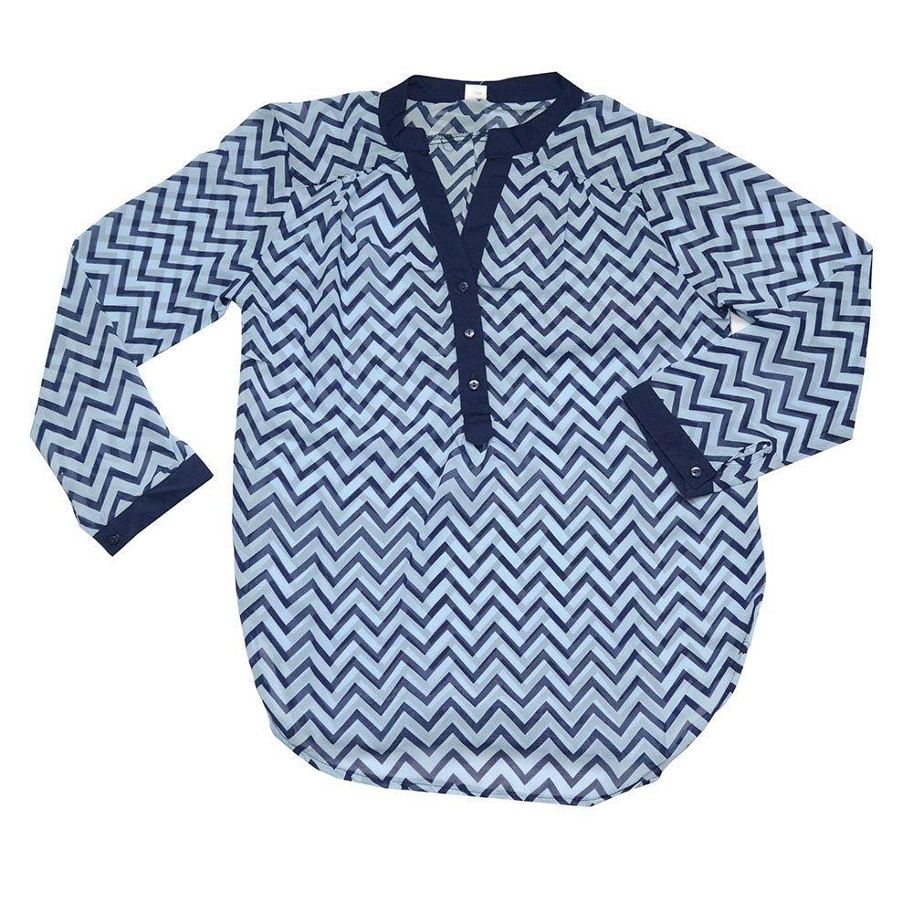 Chemise pour femme - Bleu- Taille L